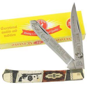 Kissing Crane Wyatt Earp Old West Bone Trapper Pocket Knife KC5601