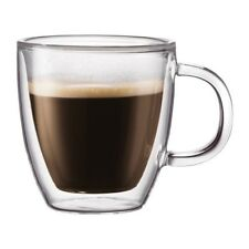 BODUM BISTRO 2 pack Tea Coffee Espresso Glass Set Double Wall 450ml 10606-10