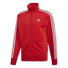 Adidas Originals Hombre Firebird Chaqueta Chándal Rojo 3 Rayas Trébol Nuevo XS