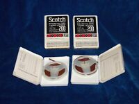 """QTY 4  Scotch  Reel to Reel Tape """"Living Letters"""" 30 Min.3"""" Reel Two are sealed"""