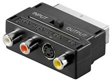 Scartstecker mit IN OUT Umschalter 3x Cinch Buchsen 4 pol. Audio Video