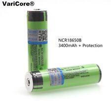 2 batteries Varicore NCR18650B 3400mAh avec étui plastique