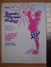 Jazz Ephemera  Nice 79 Grande Parade Du Jazz program - French language version