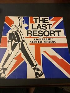 The Last Resort, A Way Of Life Punk Oi! Skinhead RED Vinyl Lp REJECTS 4skins