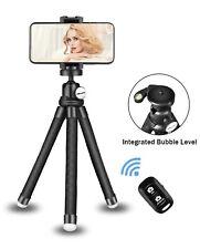Phone Tripod Stand, Portable Cellphone Camera Tripod with Bluetooth Remote