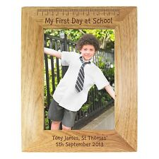 Personalised Wooden My First Day At School 6x4 Photo Frame New School Gift