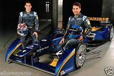 "Formula E Driver Nicolas Prost & Sebastien Buemi Hand Signed Photo 12x8"" AB"