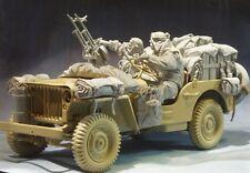 Modelos de AC Segunda Guerra Mundial conjunto de 2 figuras de conversión LRDG + Kit de estiba 75 Mm Sin Pintar Resina