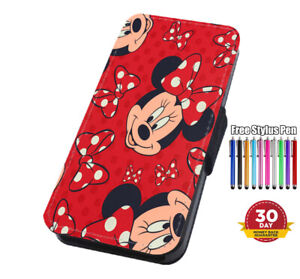 Disney Red Minnie Flip Phone Case Cover for iPhone Samsung And Huawei