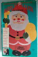 VTG 90s Merry Tunes Santa Christmas Door Wall Decor Plays 18 Holiday Songs NOSOB