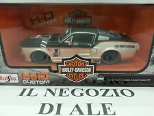 MAISTO MODELLINO AUTO CUSTOM HD 1967 FORD MUSTANG GT,SCALA 1:24,DIE CAST