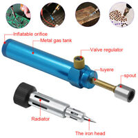 Mini Cordless Torch Gas Solder Pen Iron Heat Gun Welding Compact Refillable Tool
