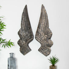 Stunning Antique Gold Angel Wings Wall Art Poly Resin Antiqued Finish 66cm tall