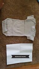 Blank, short sleeve, baby body suit, newborn, gray