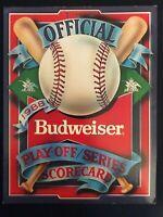 Official 1988 Playoff Series Scorecard *Budweiser Promotion*  (Unscored) M1449
