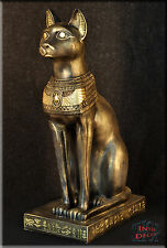 Ägyptische Katze Bastet Figur Pharao Statue Skulptur Dekofigur Kunstharz