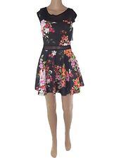 group abito vestito corto donna ruota floreale stretch taglia s/m small medium