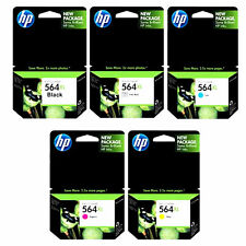 5 Pack Genuine HP 564XL Black Cyan Magenta Yellow Photo Ink Cartridges