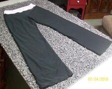 NIKE Womens Black Light Lavender Waist Athletic Yoga Pants S/Small 4-6