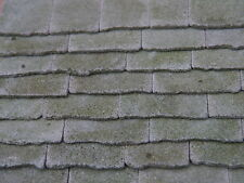 100 sq ins 1:12th NEW Real Stone Weathered Miniature Roof Slabs