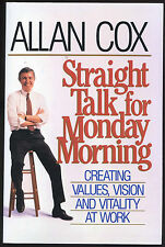 Self-Help: STRAIGHT TALK FOR MONDAY MORNING by Allan Cox. 1990. ARC