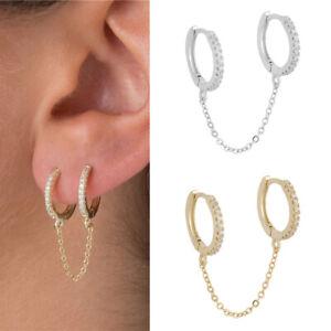 925 Silver,Rose Gold,Gold Stud Earrings for Women Pretty Cubic Zirconia Jewelry