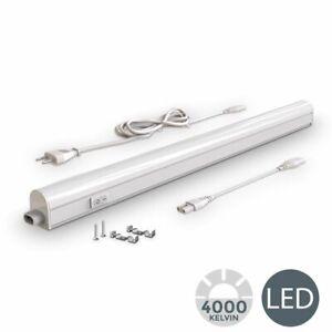Réglette LED cuisine atelier 8W 230V 700lm lumière 4000K luminaire sous meuble