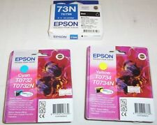 3 x Epson genuine 73/73N cartridges black,cyan,yellow for CX6900F,CX5500,TX550W+