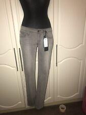 Size 14 / 33 X34 Levi Womens Low Rise Skinny Grey Jeans