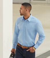 Fruit of the Loom - Long Sleeve Poplin Shirt - SS412 - Easy Care Fabric
