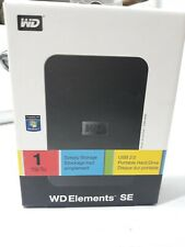 Western Digital  WD Elements SE 1TB extenal Hard Drive wdbabv0010BBK-nesn
