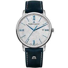 Maurice Lacroix Eliros Quartz Anthracite Dial Leather Strap Watch EL1118-SS001-1
