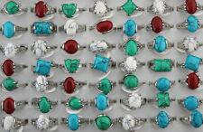 Wholesale Jewelry Mixed Lots 60pcs Fashion Natural Stone Women Rings Mixed Size