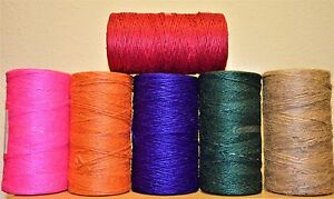 British Made Baker's Colour Jute Christmas/Gift Wrapping/Crafting Twine 3Ply3mm