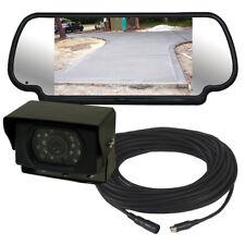 "7"" Mirror Monitor Reversing Parking Camera & Wiring Kit - For Trucks Vans Lorry"