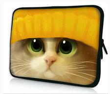 "10"" Cat Laptop Sleeve Bag Case For iPad Air 4 3 2 1/ 10.1"" Samsung Galaxy Tab 3"