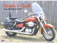 "Honda Shadow ACE VT 750 C/CD- 22"" Clear Touring Windshield w/chrome hardware kit"
