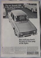 1966 Renault 1100 Original advert