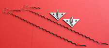"DROPWIRE Clamp Curly Wurly Pigtail No.10A x 2 & TRIANGULAR Bracket 22 x 2 ""NEW"""