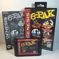 6-Pak Sega Genesis 1995 Complete Game, Manual & Box