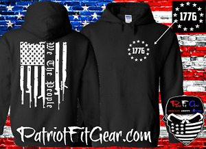 Hoodie,Gun Flag,We The People,1776,Gun Rights,Molon Labe,American Patriot,2A,