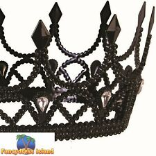 Queen Crown Black Dark Royalty Game of Thrones Adults Fancy Dress Accessory