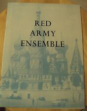 "VTG 1963 Souvenir Program~""RED ARMY ENSEMBLE""~Royal Albert UK~Soviet Dance~"