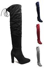 Suede Upper Block Unbranded Heels for Women