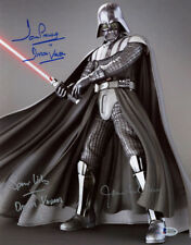 DAVID PROWSE JAMES EARL JONES WILDING SIGNED 11x14 PHOTO DARTH VADER BECKETT BAS