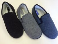 New Man House Moccasin  Slippers comfortable  Suede or canvas black camel