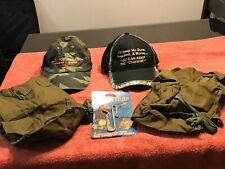 Camo Hunting Cap Hats Canvas Leg Pouch Military Bag Game Clip 2nd Amendment Cap
