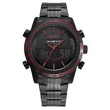 OHSEN Schwarz Analog Digital Dual Zeit Datum Tage Quarz Armband Herren Uhr