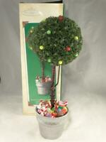 Hallmark Sugar Plum Tabletop Topiary Lighted Tree Christmas Decoration 2002