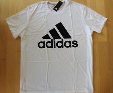 NWT ADIDAS MEN'S Logo Go To Performance Athletic T-Shirt Sz 4XLT WHITE/BLACK